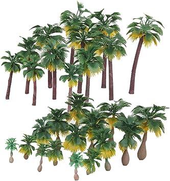 27x Modelo Árbol Palmera para Diseño de Paisaje de Bosques Lluviosos HO O N Z Escala: Amazon.es: Juguetes y juegos