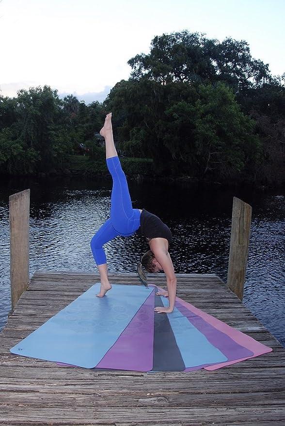 Clever Yoga Premium - Alfombrilla de liquidbalance Eco y Cuerpo Friendly Sudor Agarre Antideslizante con Bolsa de Transporte de Yoga