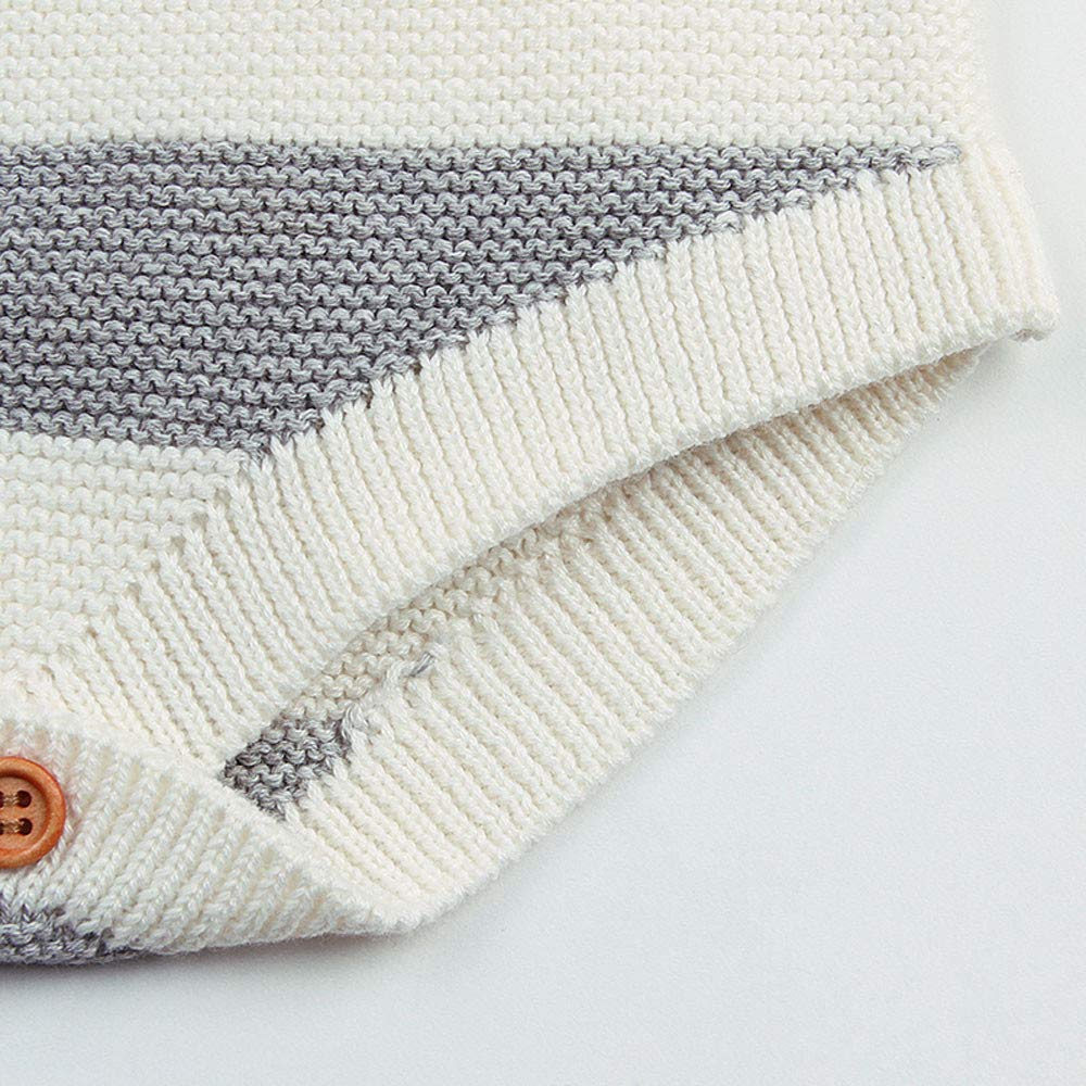 Outtop Baby Boys Girls Knitted Waistcoat Newborn Kids Sleeveless Fall Winter Warm Vest Rainbow Rompers Jumpsuit TM