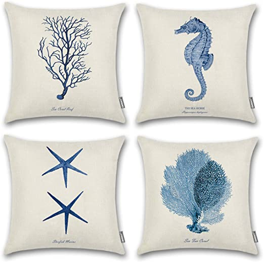 Seahorses Love Gift 14 x 14 inches Pillow Cover