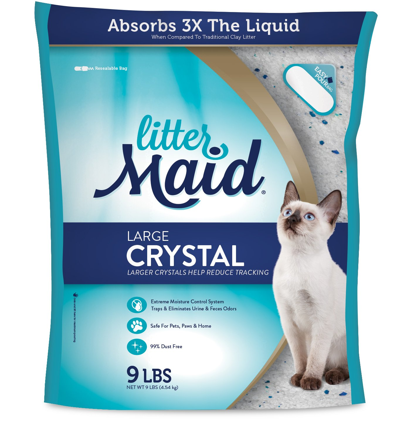 LitterMaid Large Crystal 99% Dust Free Cat Litter, 9 lb