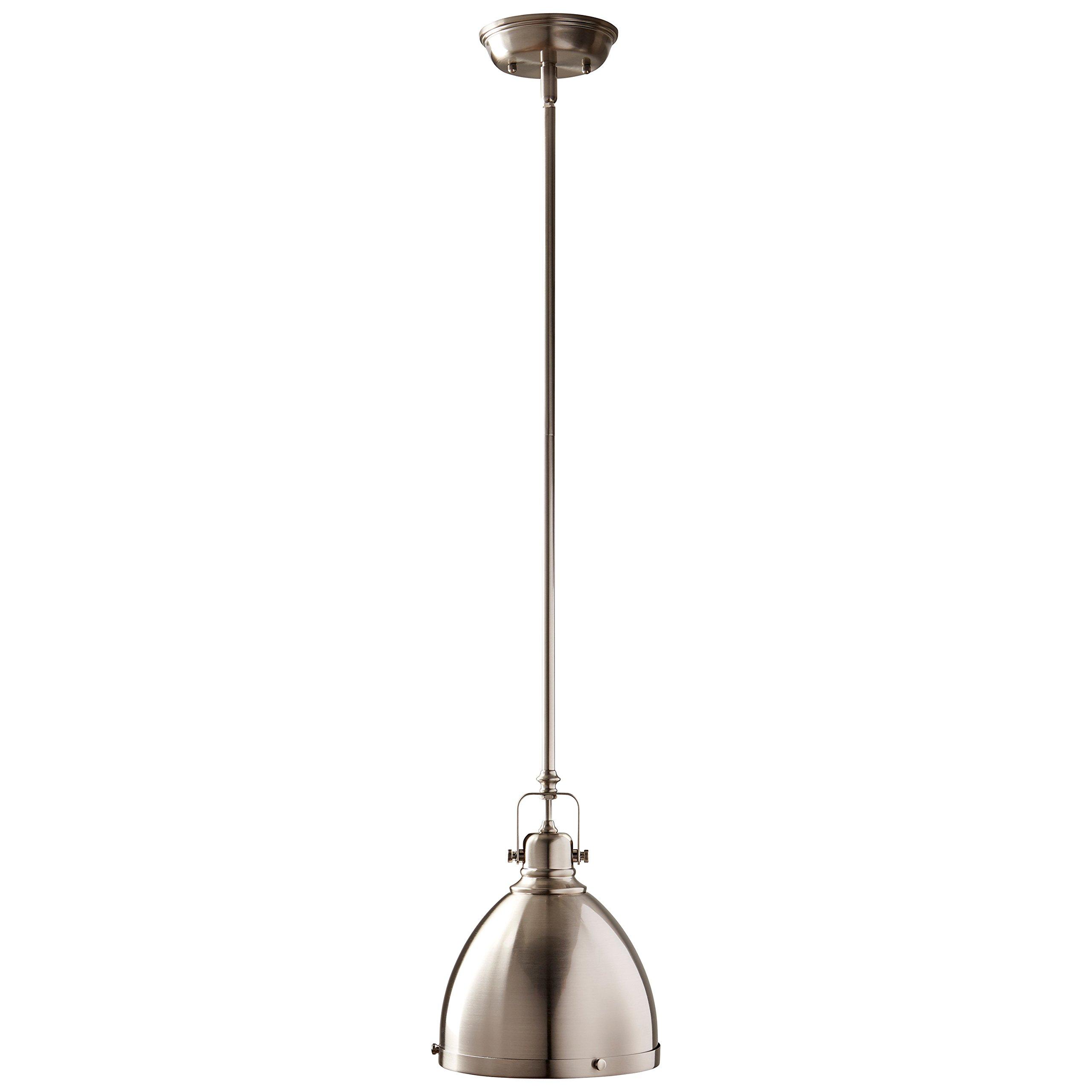 Stone & Beam Hood Pendant Light, 13''-61''H, Brushed Nickel