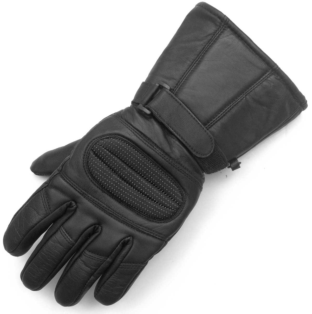 Men's Motorcycle Gauntlet Leather Windproof Heavy Duty Winter Biker Gloves M