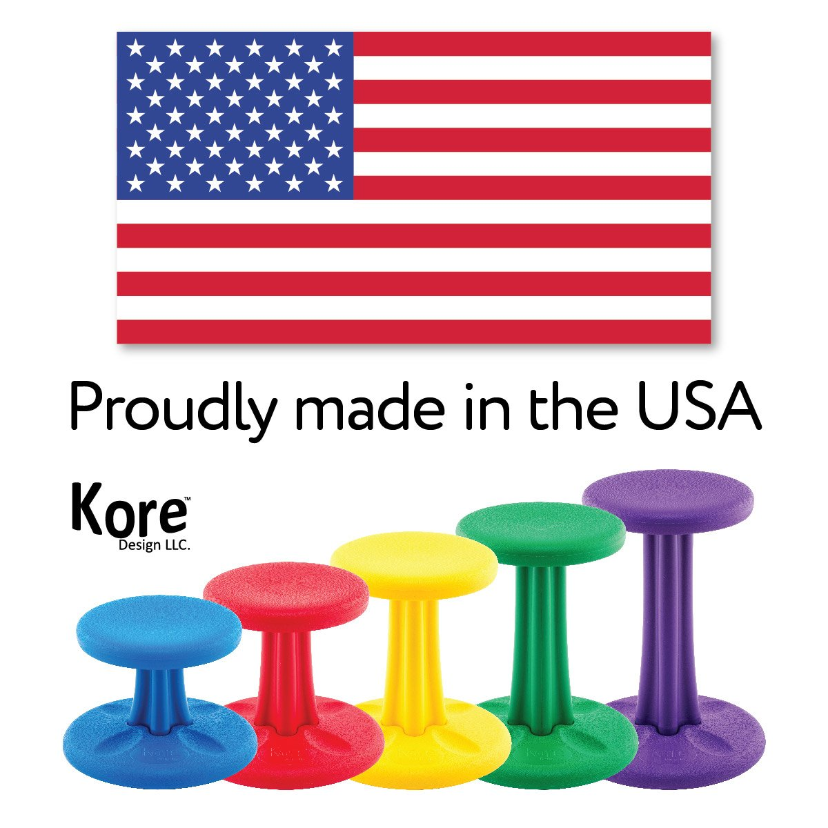 Kore Design KOR125 Pre-School Wobble Chair Height 12 Dark Blue