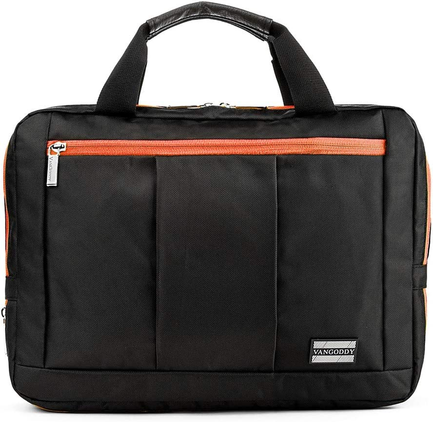School Messenger Bag Black fits 10 to 12 inch Laptops for Samsung Notebook M, Galaxy, Chromebook