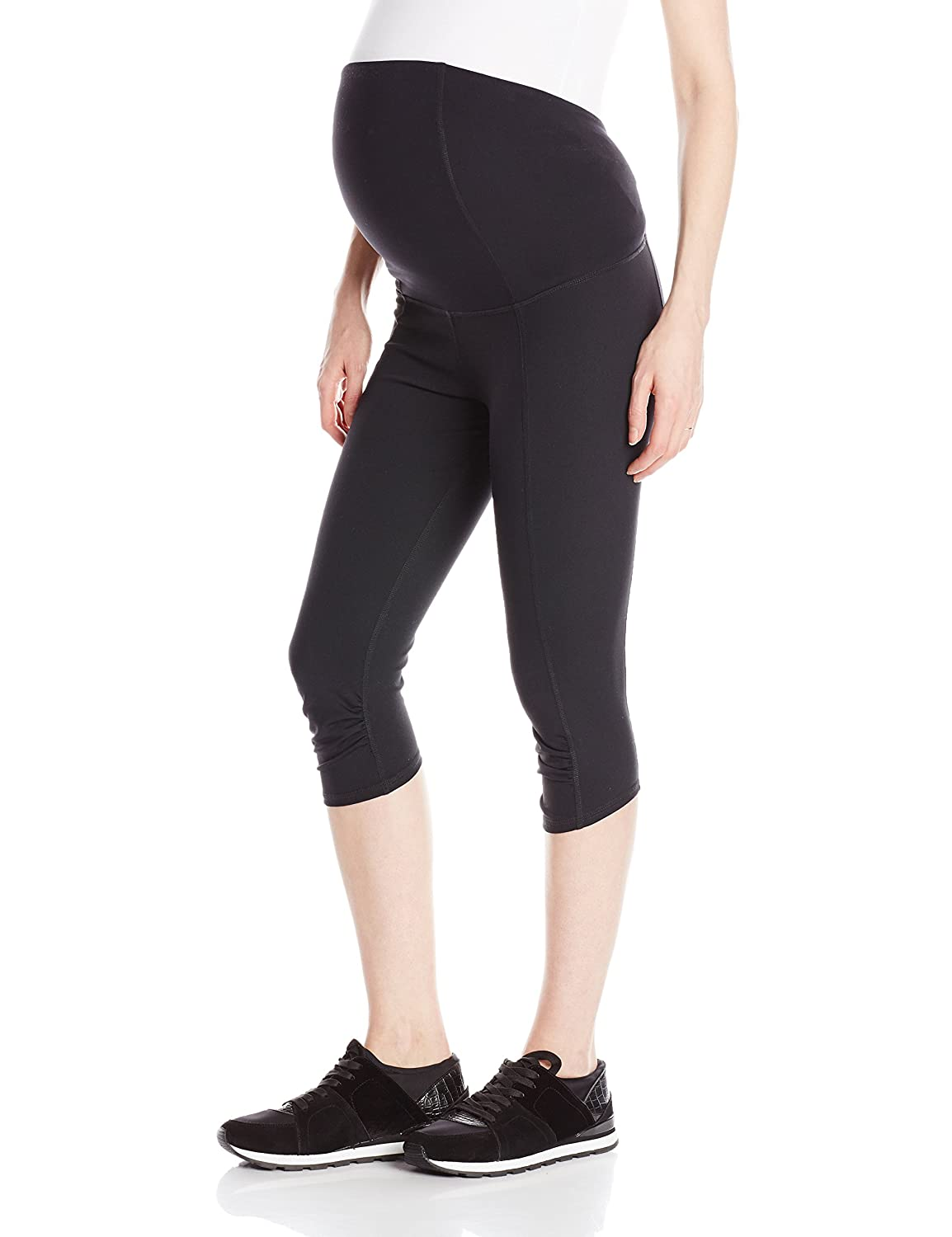 dfb1a6d621e9b Ingrid & Isabel Women's Maternity Crossover Panel Active Knee Pant at  Amazon Women's Clothing store: Fashion Maternity Leggings Pants