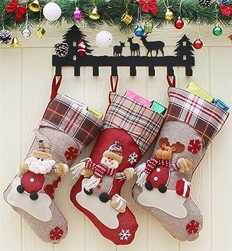 Cozywind Medias de Navidad Decoración, 3pcs Calcetines de Navidad Bolsas de Regalo para Navidad Colgantes del Arbol,Tamaño Grande: Amazon.es: Hogar