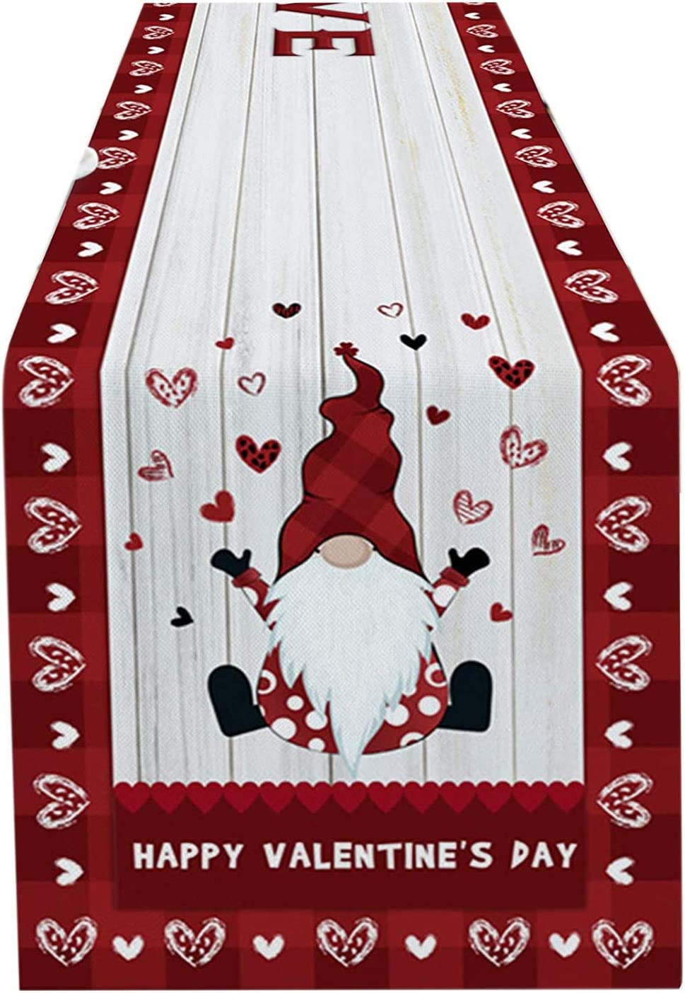 Valentines Day Gnome Table Runners
