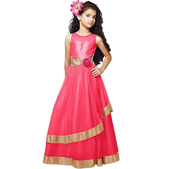 bf5361b669a7 red velvet pink net embrpidery annarkali flared readmade part wear ...