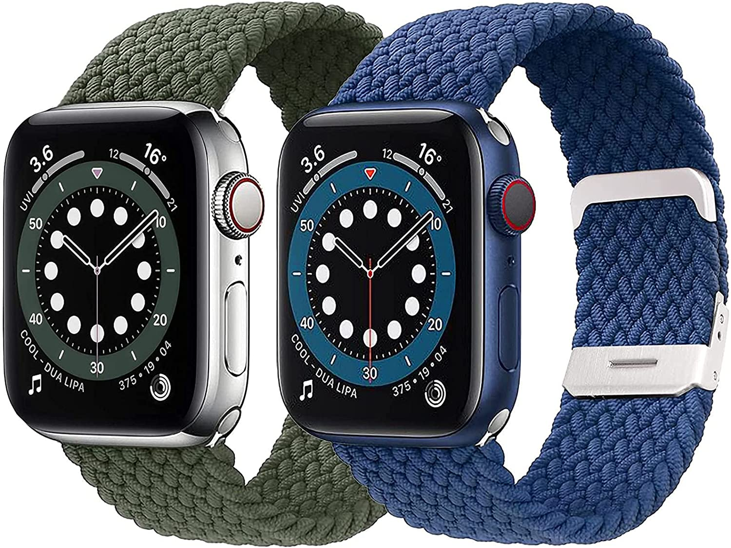 Stretchy Braided Nylon Solo Loop Bands Compatible with Apple Watch Band 38mm 40mm 42mm 44mm, Adjustable Stretch Sport Elastics Replacement Strap Compatible with iWatch Series 6/5/4/3/2/1 SE for Men Women