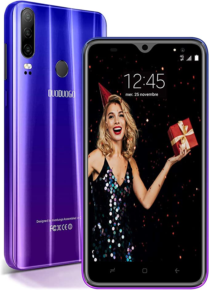 Moviles Libres Baratos 4G Android 9.0, P30(2019) 3GB RAM+32GB ROM/128GB 5.5 Pulgadas Smartphone Libre 4800mAh Quad-Core Dual SIM Telefonos Barato Dual Cámara 13MP+5MP Moviles baratos y buenos Púrpura: Amazon.es: Electrónica