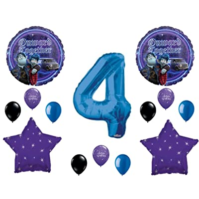 Onward 4th Happy Birthday Party Balloons Decoration Supplies Disney Movie: Everything Else