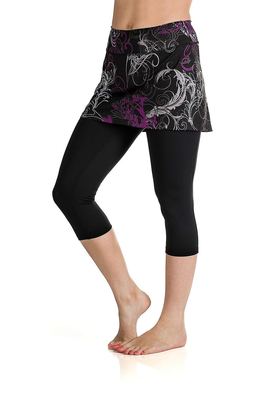 Starlet Print noir X-grand Jupe Sports Jupe de Lotta Breeze Capri pour Femme