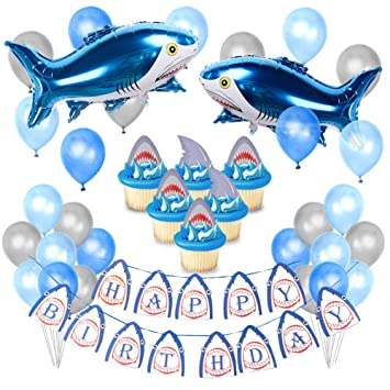 Kreatwow Shark Party Decorations Supplies for Kids ...