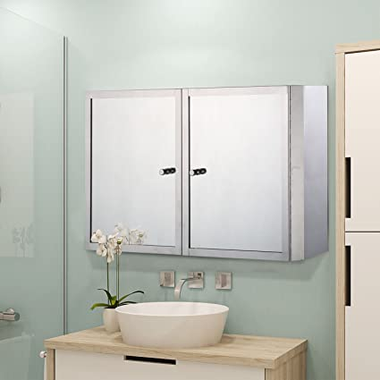 Amazoncom Homcom Horizontal 20 Stainless Steel Bathroom Wall