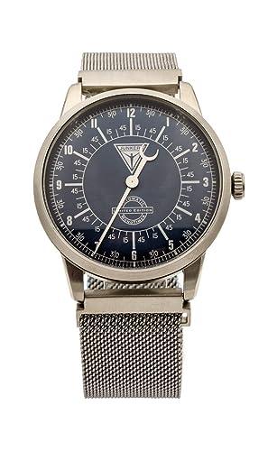 Junkers 6362-5 - Reloj automático para Hombre, Correa de Plata milanesa, Fabricado en Alemania: Amazon.es: Relojes