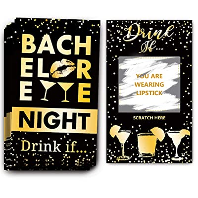 Bachelorette Party Drinking Games - Drink If Games Scratch Off Cards - Perfect for Girls Night Out Activity,Bridal Showers,Bridal Parties,Wedding Showers,Engagement and Birthday Party - 40 Sheets: Toys & Games
