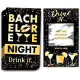 Bachelorette Party Drinking Games - Drink If Games Scratch Off Cards - Perfect for Girls Night Out Activity,Bridal Showers,Bridal Parties,Wedding Showers,Engagement and Birthday Party - 40 Sheets