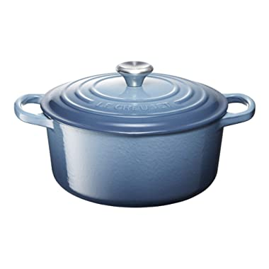 Le Creuset LS2501-226MSS Signature Enameled Cast Iron Round French Oven, 3 1/2 quart, Marine