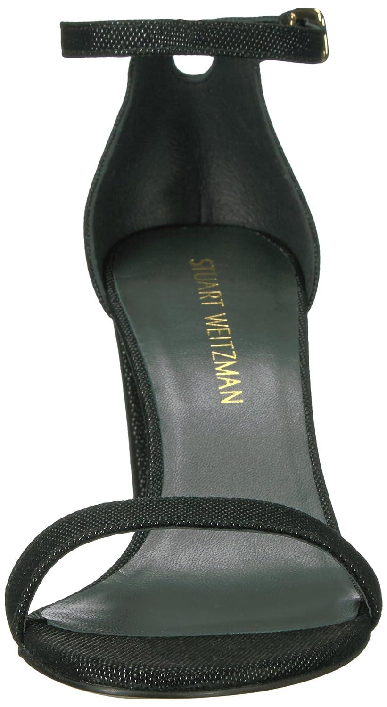 Stuart Weitzman Women's Nearlynude Heeled Sandal B06XPJJYLK 9 B(M) US|Black/Black