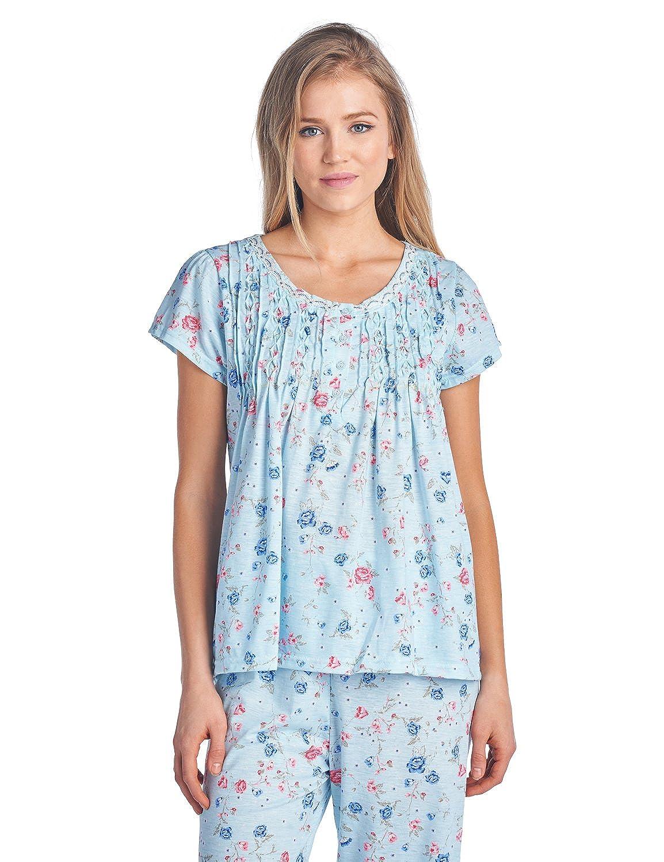 Casual Nights Women s Short Sleeve Capri Pajama Set at Amazon Women s  Clothing store  601a1c47f
