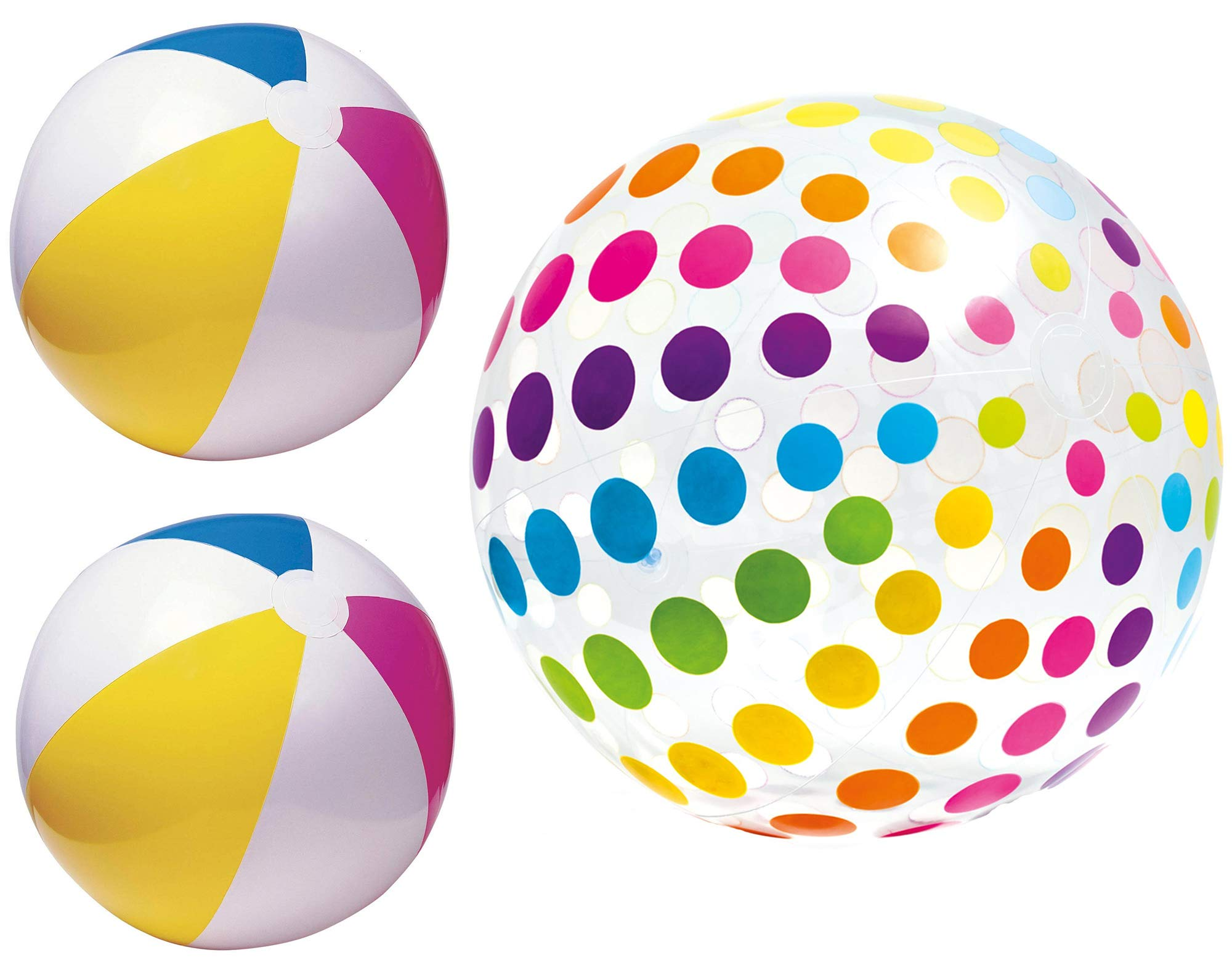 Intex Summer Beach Ball Set - One Jumbo 42'' Ball and Two Classic 24'' Balls for Beach and Pool by Intex