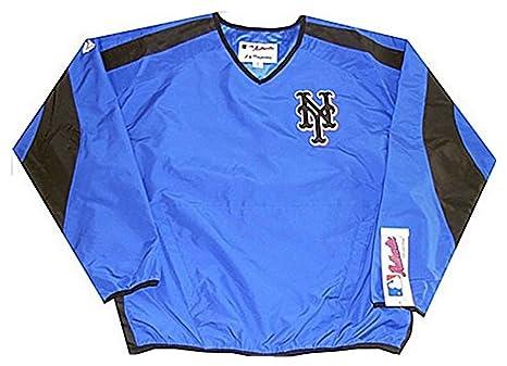 153b759d Majestic New York Mets MLB Mens Blue Pullover Windbreaker Jacket Adult Sizes  (M)