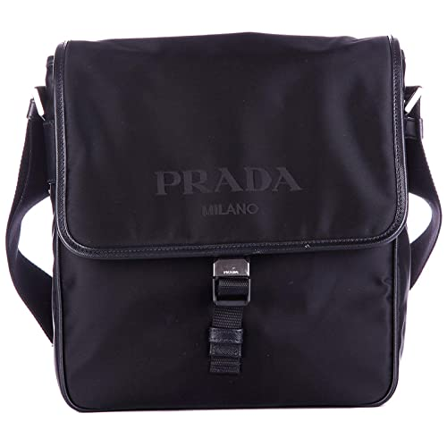 b2d16283 Crossbody Bag Prada Men - Fabric (2VD770NERO): Amazon.co.uk: Shoes ...