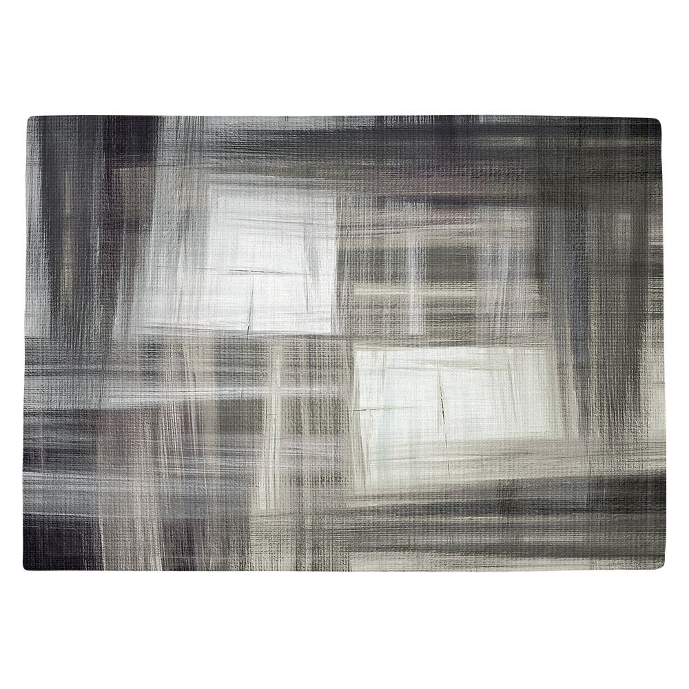 DIANOCHEキッチンPlaceマットby Artist Julia Di Sano – Tartan Crosshatch Greyscale Set of 4 Placemats PM-JuliaDiSanoTartanCrosshatchGreys2 Set of 4 Placemats  B01N3TLVYT