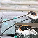 Peppydami Cepillo telescópico Ajustable para Lavado de Autos Fregona de Limpieza Herramienta para Limpieza de Autos Suministros Paños Cepillos Automóviles Cepillos