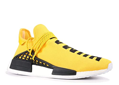 pas mal af4b2 3af44 adidas Mens Pharrell Williams X Human Race NMD Yellow/Black-White Fabric  Size 6.5