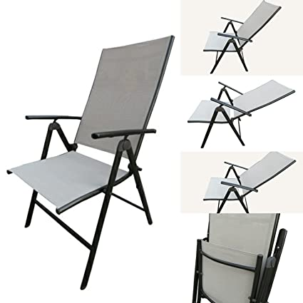 6e534ed1a3f  quot Amaze quot  Folding Easy Reclining Light Weight Portable Pool Side  Garden Metal Chair (