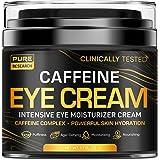 Caffeine Eye Cream For Anti Aging, Dark Circles, Bags, Puffiness. Great Under Eye Skin + Face Tightening, Eye Lift Treatment