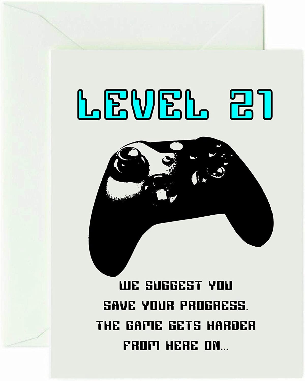 Level 8 Xbox One Style Controller Birthday Card 8st Birthday Gamer Gaming  Card 8 Year Old by Wirebird Design