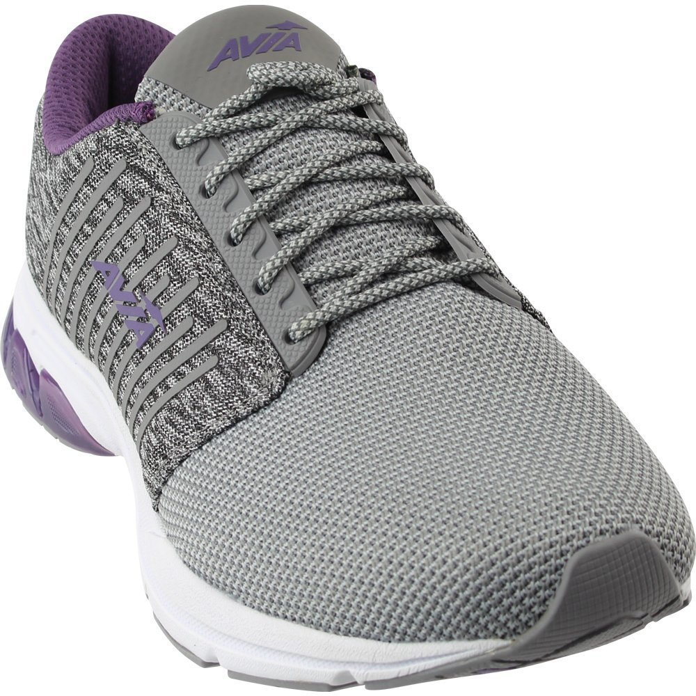 Avia Women's Avi-Zeal Track Shoe, Frost Grey/Cool Mist Grey/Twilight Purple, 8.5 M US
