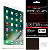"[Pack of 2] TECHGEAR® New Apple iPad (2017 / 9.7"") CLEAR Screen Protector Guard Covers with Cloth & Applicator Card"