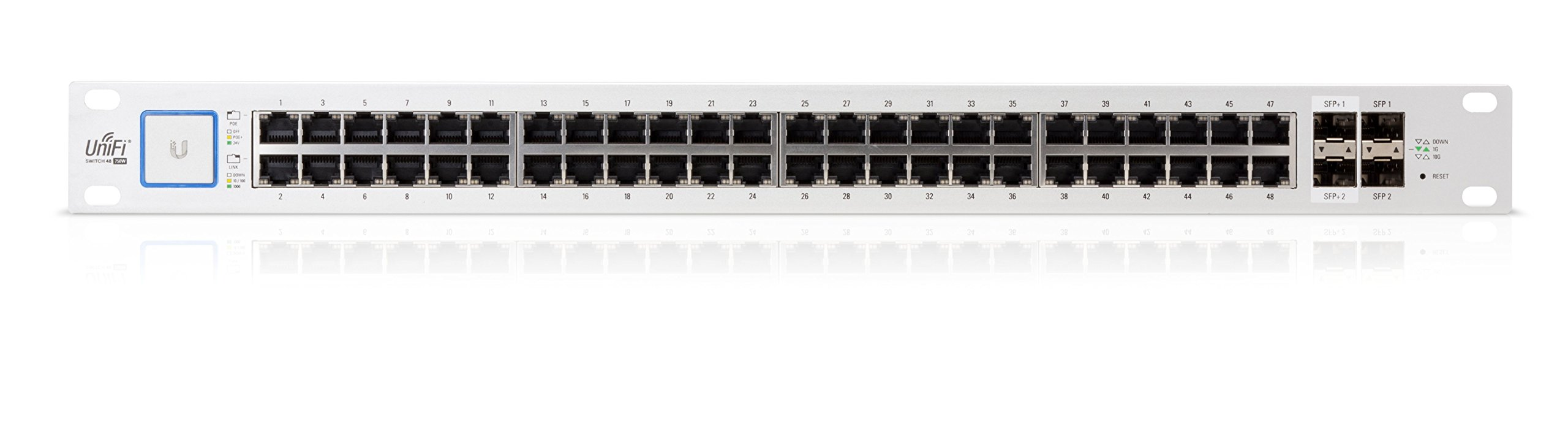 Ubiquiti UniFi Switch 48 Port US-48-750W  Managed PoE+ Gigabit Switch with SFP 750W by Ubiquiti Networks