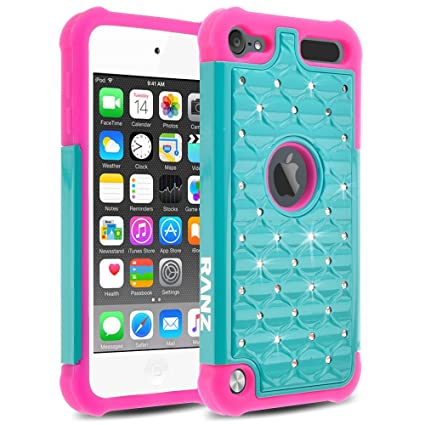 Amazon.com: iPod Touch 6/ iPod Touch 5 Case, RANZ Hot Pink ...