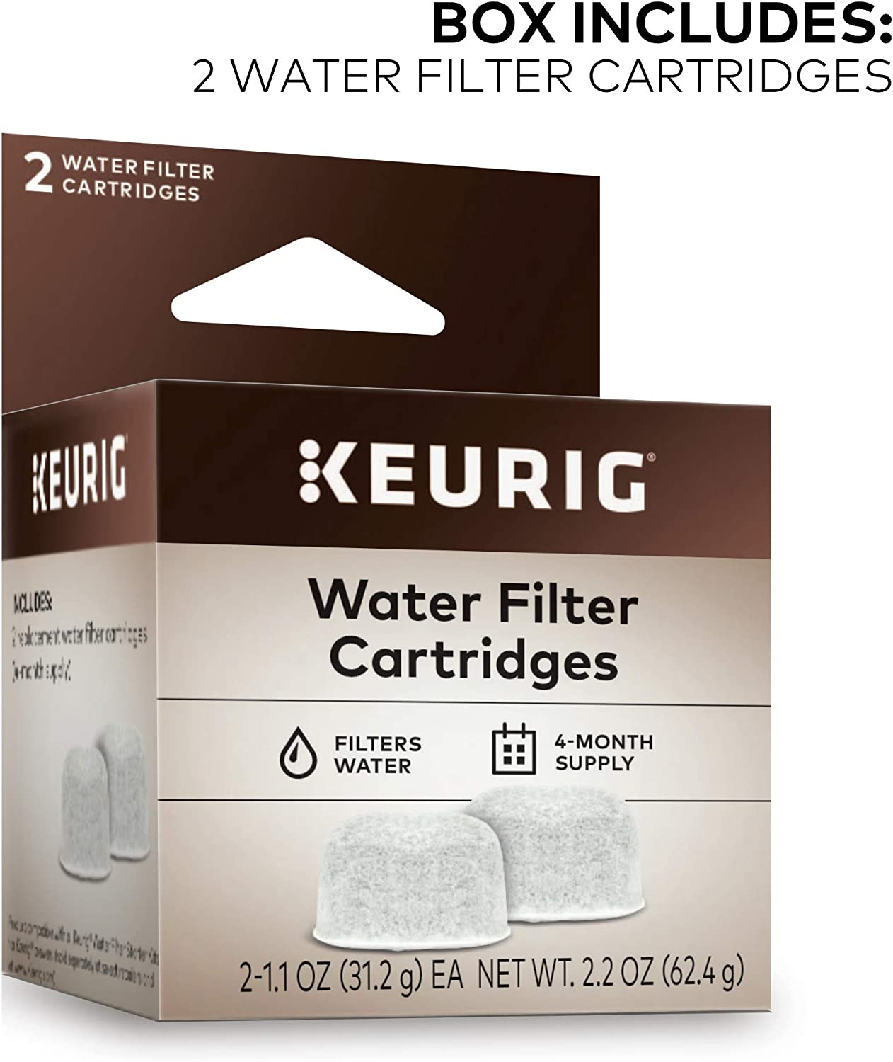 Keurig Brewer Care Kit, Includes Descaling Solution & Water Filter Cartridges, Compatible with Keurig Classic/1.0 & 2.0 K-Cup Pod Coffee Makers, 3 Count