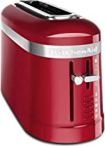 KitchenAid KMT3115ER 2 Slice Long Slot High-Lift Lever Toaster, Empire Red