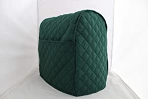 Simple Home Inspirations Quilted Cover Compatible for Kitchenaid Stand Mixer, Lift Bowl, Piped with 2 Pockets (Hunter)