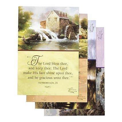 DaySpring Praying For You Greeting Card With Embossed White Envelopes 12 Count Thomas Kinkade
