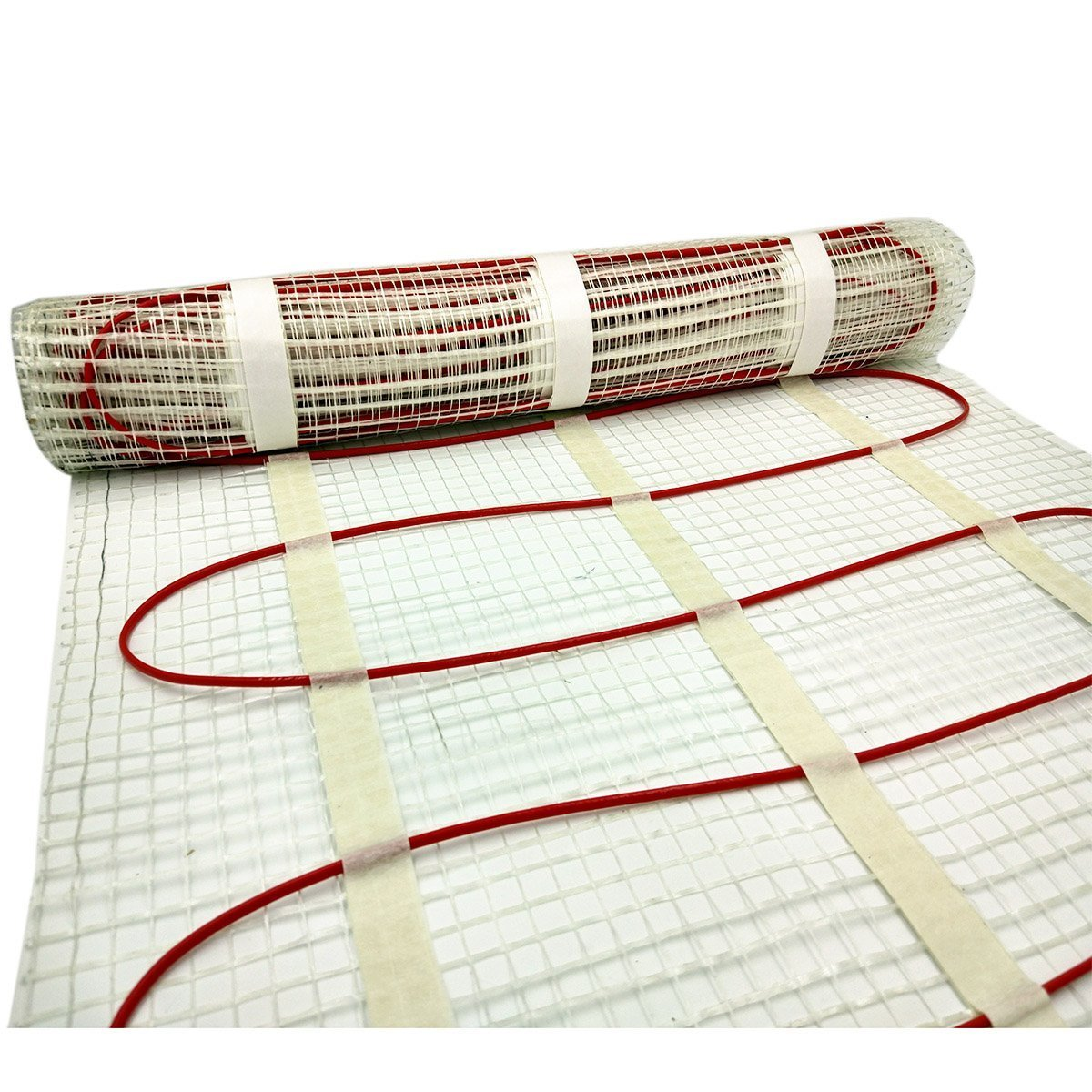 50 sqft SENPHUS 120V Electric Radiant Underfloor Heating System Warm In Tiles Cable Self-adhesive Mat by Senphus (Image #2)