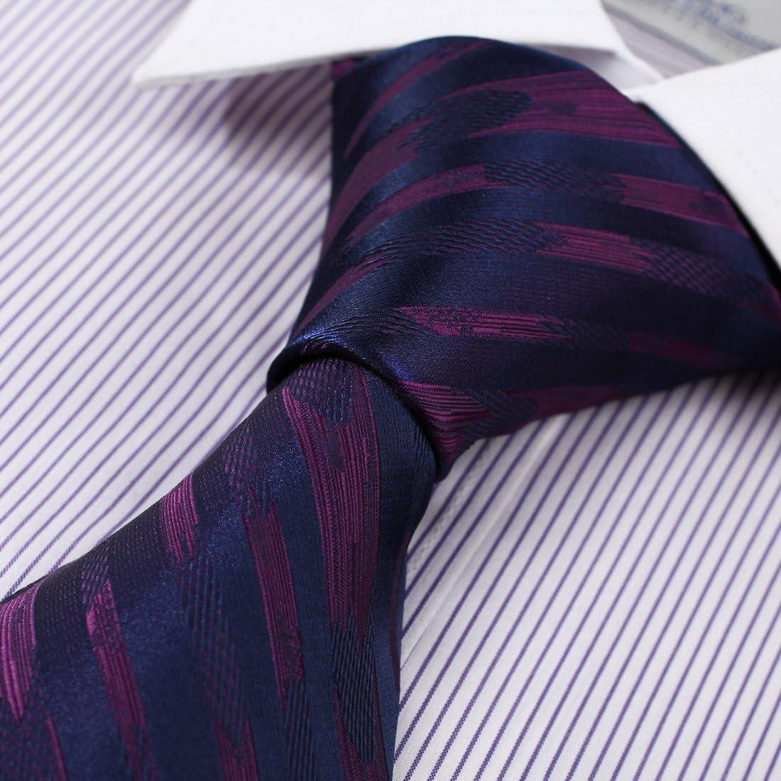 DAA7A03B Grey Black Stripes Romance Gift Tie Woven Microfiber Italy Polyster Neckwear By Dan Smith