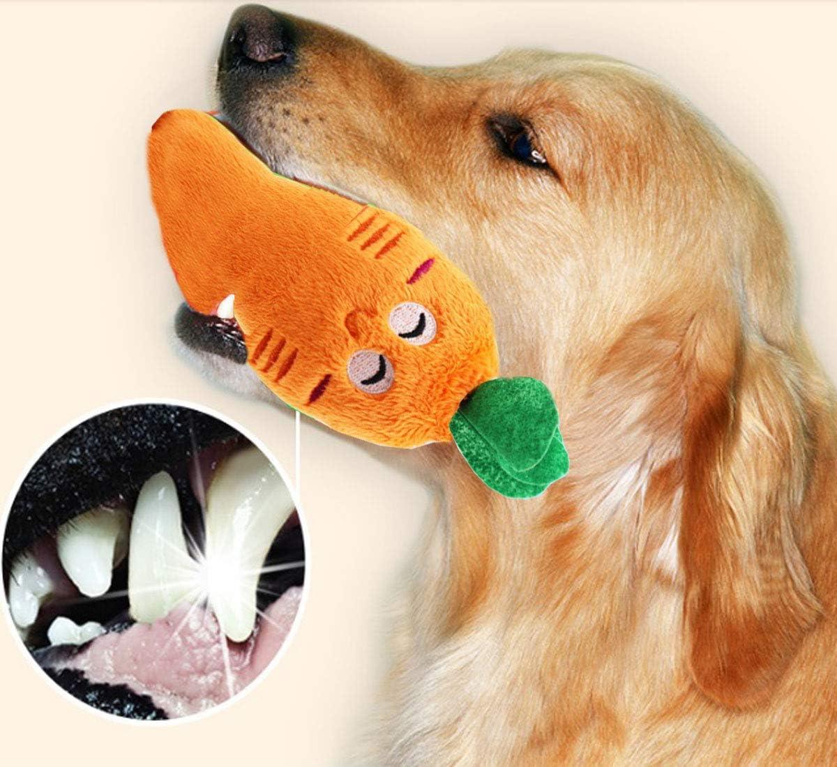 con Bolsa para Almacenamiento Diferentes formas de Frutitas 14 Piezas de Juguetes que Hacen Ruidos para Perros Peque/ños Juguetes Divertidos para Morder para Mascotas Animales Verduras Huesos