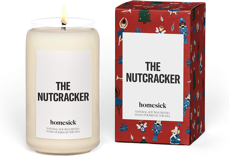 Homesick Scented Candle, The Nutcracker - Scents of Cinnamon, Clove, Pecan, 13.75 oz