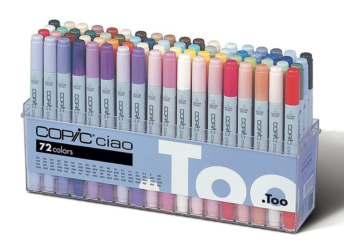 Copic CIAO Marker Set 72A Color (I72A) BRAND NEW, Premium Artist Markers supply:jimmy0723 by manrojoytion