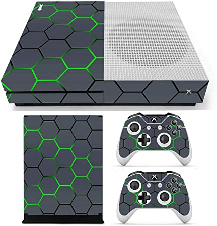 MYAMIA Green Grid Vinyl Decal Skin Stickers Cover para Xbox One S ...