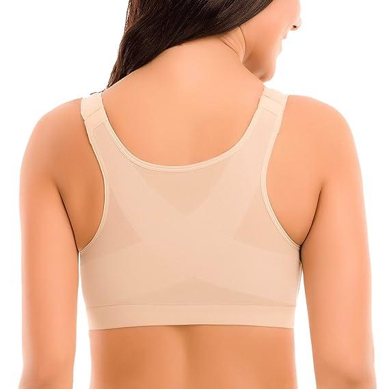 Delimira Femme Soutien-Gorge Fermeture Devant Posture sans Armatures   Amazon.fr  Vêtements et accessoires 4fe2eb9bdf3f