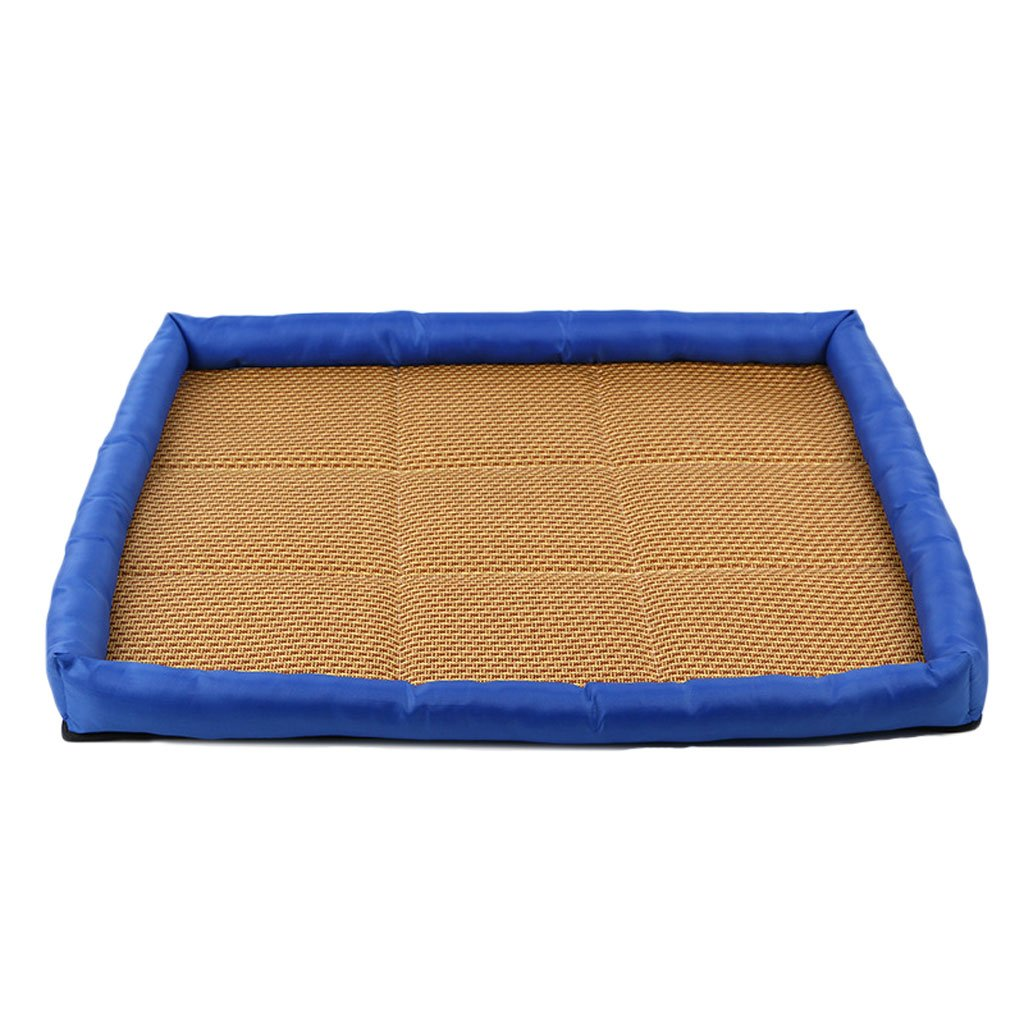 blueE S blueE S GCHOME dog bed Pet bed Oxford cloth summer kennel cool breathable waterproof non-slip durable (color   blueE, Size   S)